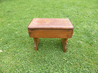 Vintage Small Pine Bench Stool.