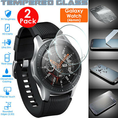 2x Genuine TEMPERED GLASS Screen Protector Cover For SAMSUNG Galaxy Watch 46mm