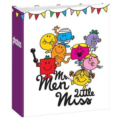"Mr Men Photo Album & Little Miss  7""x 5""/19x13cm Slipin Memo Photo 102 Photos"