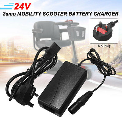 24V 2amp QUALITY MOBILITY SCOOTER BATTERY CHARGER FOR PRIDE GOGO ELITE TRAVELLER