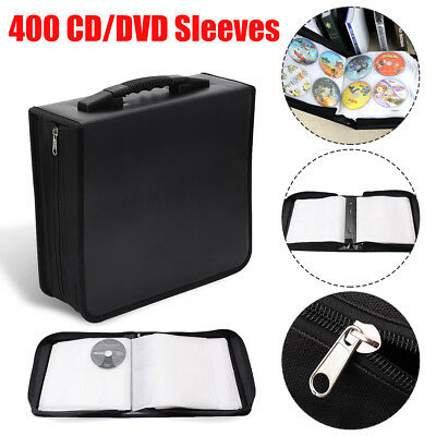 400 Disc CD DVD Bluray Storage Holder Solution Binder Book Sleeves Carrying