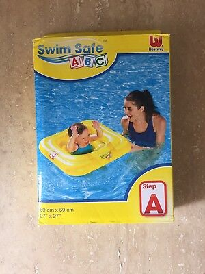 NEW High Quality Bestway Swim Safe Baby Support Seat Swimming Aid For 1-2 Years