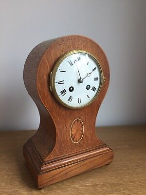 Antique Balloon / Mantel Clock ,French Japy Freres Movement- Working-restored