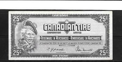 Canada Canadian 1974 25 Cent Vf Circulated Tire Money Currency Banknote Note
