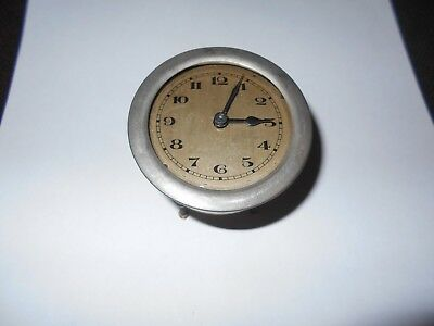 Old Vintage Small Bedroom Clock Movement Spares Only Steampunk !!
