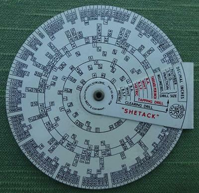 """A """"Shetak"""" Calculator used for Drill and Thread Calculations in Construction"""
