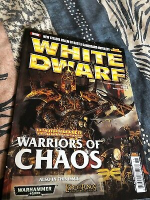 WHITE DWARF MAGAZINE  November 2008   WD347 Warriors Of Chaos