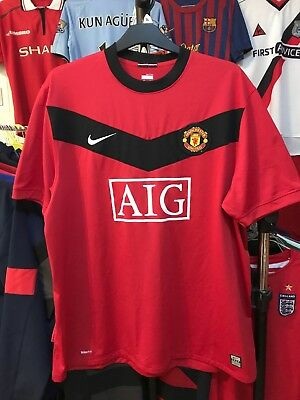 Men's Manchester United home football shirt size XXL red colour Nike 2009-2010
