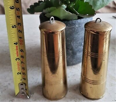 Clock Weights Cylinder Brass Lead Filled 1500g Each For Wall Clock Wubba