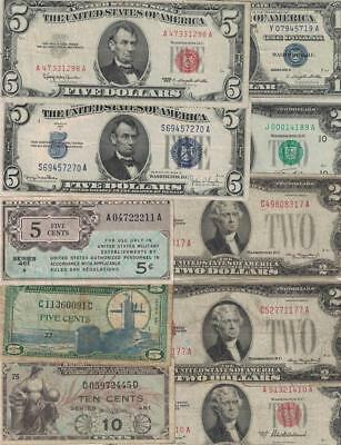 Lot Of Old United States Currency