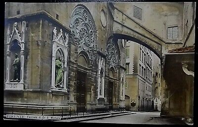 Early 1900's Florence Italy Vintage Postcard Exterior Di Or S. Michele Church