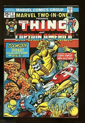 Marvel Two-In-One #4 Very Good / Fine Thing / Captain America 1974 Marvel Comics