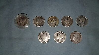 Mercury dimes, Barber  lot