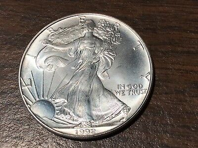 United States Mint 1992-P American Eagle One Ounce Silver Bullion Dollar Coin