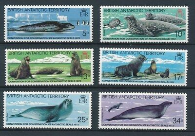 [85785] British Antarctic Territory Seals good set Very Fine MNH stamps