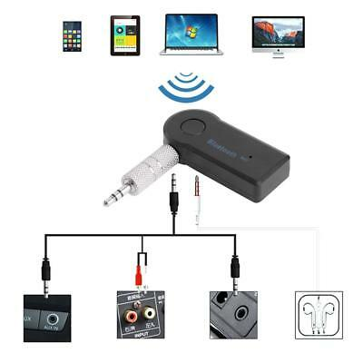 Mini Bluetooth Wireless 3.5mm AUX Audio Car Receiver Adapter w/ Mic Stereo Music