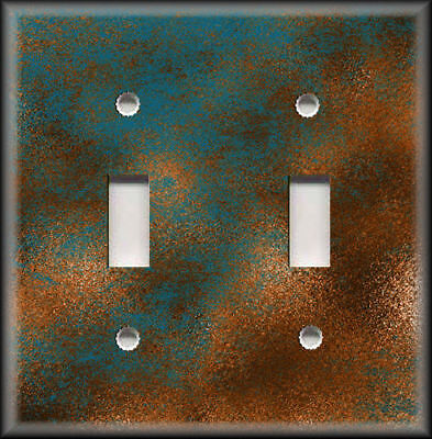 Light Switch Plate Covers - Image Of Aged Copper Patina Design Rustic Home Decor