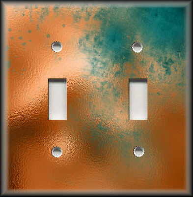 Light Switch Plate Cover Image Of Aged Copper Design Rustic Patina Home Decor 02