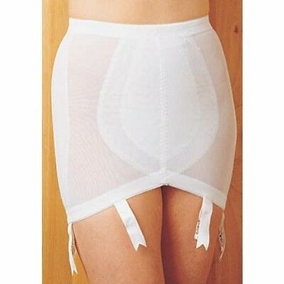 Size Large Pull-on Double-Control Open Girdle Vintage NEW 6 Garters Crownette