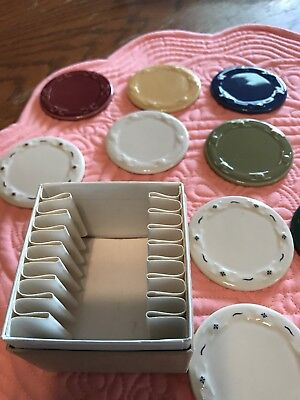 9 Longaberger Pottery Samples -Or- miniature Dollhouse Kitchen Plates In box