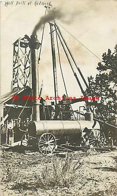 OR, Redmond, Oregon, RPPC, Well Drilling, Steam Engine, Occupation