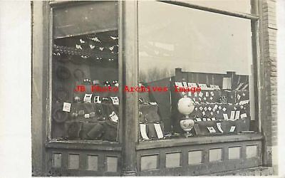 Unknown Location, RPPC, Women Accessories Window Display