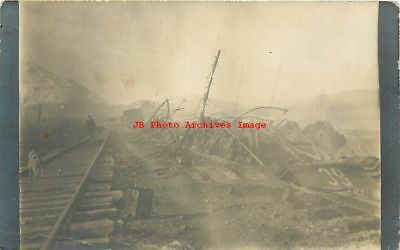 Unknown Location, RPPC, Great Northern Railroad Train 39 Disaster, Train Tracks