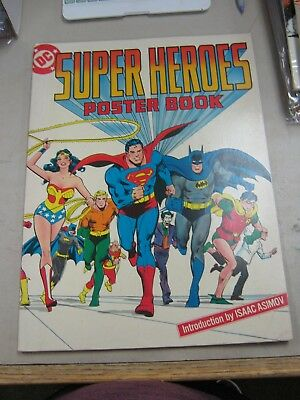 "Dc Super Heroes Giant Poster Book Fine+ 1977 11"" X 15"""