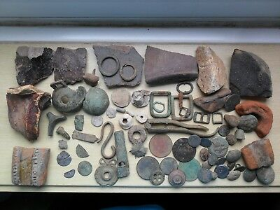 Roman Anglo-Saxon Medieval Tudor & later metal detecting finds artefacts & coins