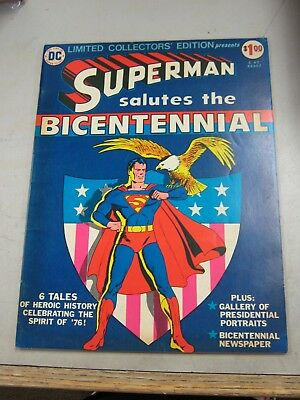 Dc Limited Collectors Edition #c-47 Vg/fine Superman / Bicentennial 1976