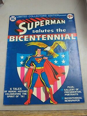Dc Limited Collectors Edition #c-47 Very Good Superman / Bicentennial 1976