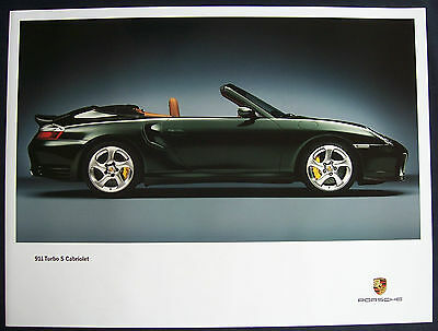 Porsche Official 911 996 Turbo S Cabriolet Showroom Poster 2005