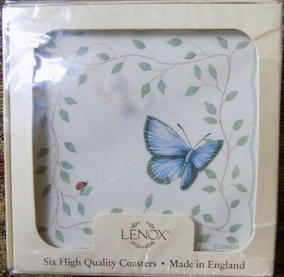 LENOX BUTTERFLY MEADOW COASTERS Set of 6 NEW IN PACKAGE