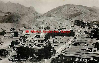 Bolivia, Tupiza, RPPC, Panorama View, Residential Section, Photo No 24