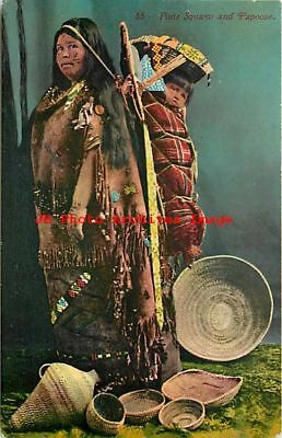 Native American Indian, Paiute Woman & Papoose, Edward H Mitchell No 85
