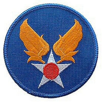 """Military Embroidered Patch - Army Air Force -- Iron-On - 3"""" Free Shipping"""