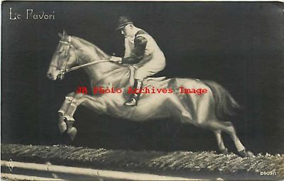 Metamorphic, Le Favori, RPPC, Jockey on Horse, Alphalsa Pub No 2609/1