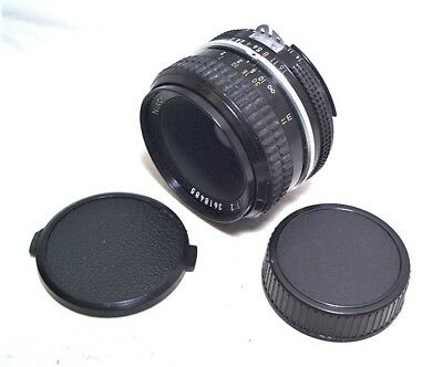 NIKON NIKKOR 50MM 1:2 Ai NORMAL LENS W/ CAPS