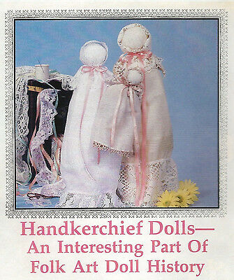 CHURCH DOLL PATTERNS -- HANDKERCHIEF & TWIN BABIES in a CRADLE INSTRUCTIONS
