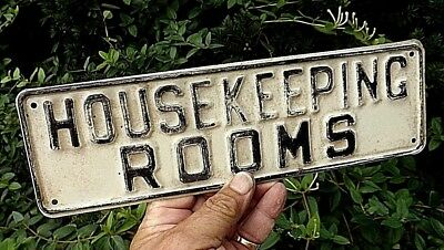 """ANTIQUE """"HOUSEKEEPING ROOMS"""" SIGN EARLY 1900s REMOVED FROM TRAYMORE HOTEL ACNJ"""