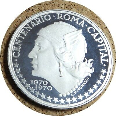 elf Equatorial Guinea 150 Pesetas 1970 Silver Proof Rome Mercury