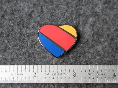 Southwest Airlines Tri Color Heart Logo Pin.