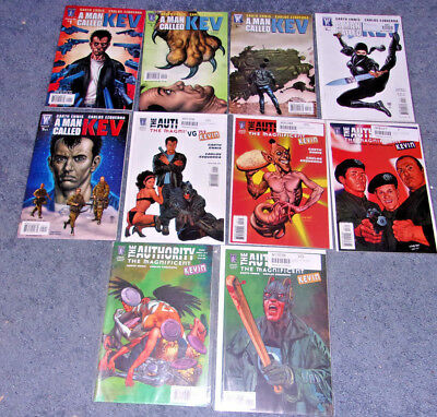 Wildstorm The Authority Kev Series Set Full Run Comic Book lot of 10 Kevin