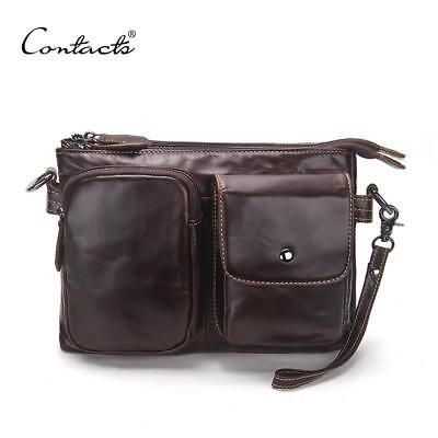 Vintage Men High Quality Soft Genuine Leather Large Capacity Travel Bag
