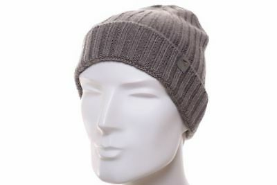 Göttmann Turn up Beanie Taupe Knitted Cap Pure Wool Woolly Hat Bobble Hat