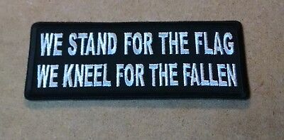 Stand For The Flag Kneel For The Fallen Embroidered Biker Patch