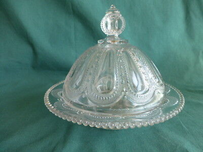 Wisconsin Early American Pattern Glass Butter Dish