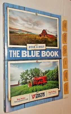 2016-2017 Blue Book TRACTOR SUPPLY CO TSC CATALOG agricultural, tools, hardware