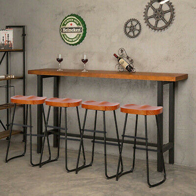 Bar Stools Industrial Rustic Metal Vintage Backless Counter High Chair Pub Seat