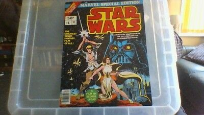 """STAR WARS # 1 Marvel (UK) SPECIAL EDITION  (GIANT 13"""" x 10"""")  1977"""